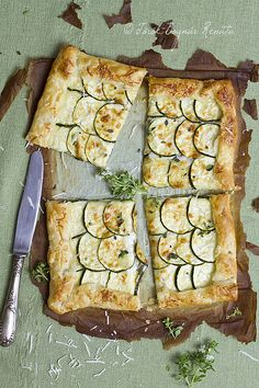 Courgette and cheese tart
