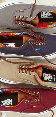 Canvas and Leather Vans Sneakers