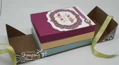 Box-N-Wrap - video - bjl 3d Paper Projects, 3d Paper Crafts, Paper Crafting, Petite Purses, Craft Bags, Cute Cards, Craft Items, Stampin Up Cards, Mini Albums