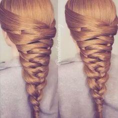 Espectacular y hermoso peinado! Muy fácil mis amores, paso a paso todos los…