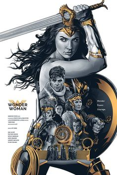 Cartoons And Heroes — geekynerfherder:     'Wonder, Power, Courage' by...
