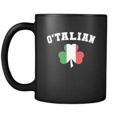 Italians O'talian 11oz Black Mug