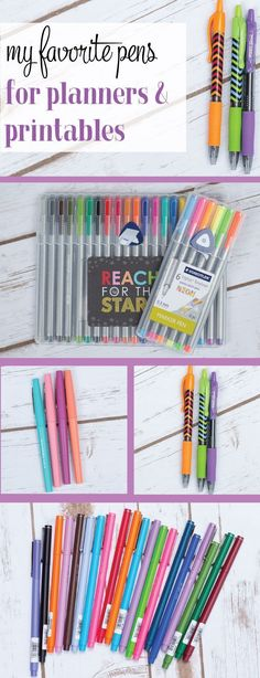 My favorite pens to use in planners and printables.