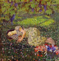 Il sogno del melograno ( 1912 ) - Felice Casorati
