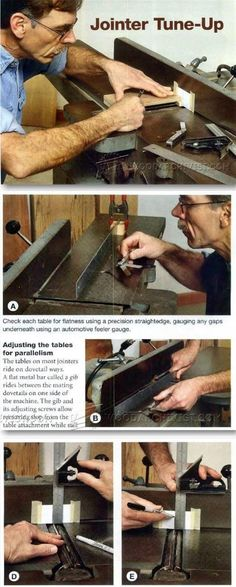 Jointer Tune Up - Jointer Tips, Jigs and Fixtures   WoodArchivist.com