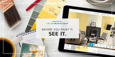 Browse more than 1,500 paint colors, match colors from photos and virtually paint your own walls with the touch of a finger. ColorSnap Studio takes the guessing out of color choice.