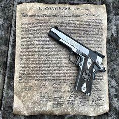 "theaverageshooter: "" Let freedom ring! Instagram: @theaverageshooter #badass #awesome #operator #weaponsdaily #gunsdaily #gunporn #guns #gun #cool #colt #2a #2ndamendment #2amendment #1911 #gunfanatics #gunchannels #ak #patriot #molonlabe #45..."