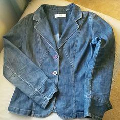 DKNY CITY dark denim jacket DKNY CITY dark denim jacket great for spring or fall lightweight DKNY Jackets & Coats Jean Jackets