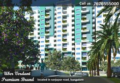 Uber Verdant Apartments in Sarjapur Road offers you everything you wanted in refreshing breeze green spaces surrounding your living spaces. Uber Verdant Apartments offers you a choice of 305 well designing 2 BHK. 2.5 BHK and 3 BHK Flats in Sarjapur Road, Bangalore with G+13 Floors. Uber Verdant Apartments in Sarjapur Road is designing to perfection by providing awesome amenities and features in it.