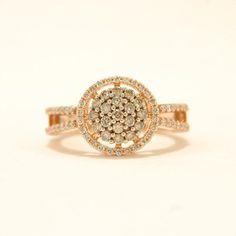 Rose gold and chocolate diamonds in this beautiful ring #SmokinJoesJewelry #diamond
