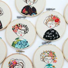 Embroidered ladies