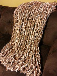 Arm Knit Blanket....I did it!