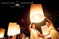 Thai Sky Lantern (Khom Loy) released into the night sky at the end of another perfect wedding. - Villa Wedding at Ban Sairee, Koh Samui by The Signature Weddings