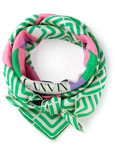 LANVIN VINTAGE geometric print scarf