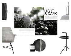 """Light & Dark"" by nmkratz ❤ liked on Polyvore featuring interior, interiors, interior design, home, home decor, interior decorating, Lyon Béton, HAY, Sarah Cihat and House Doctor"
