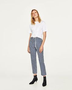 ZARA - WOMAN - CROPPED TROUSERS WITH ELASTIC WAIST