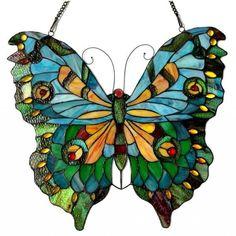 Chloe Tiffany Style Butterfly Design Window Panel