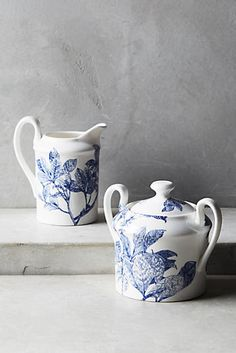 Anthropologie - 'Caskata Arbor' Collection - Creamer & Sugar Bowl Set