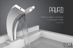 Pavati Tapは水とお湯が流れる美しい滝の蛇口