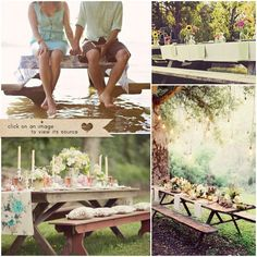 I would love to be able to use picnic tables at the reception. If anyone knows a place where we could rent some, please let me know!