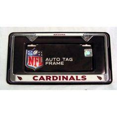 Arizona Cardinals NFL Chrome Metal License Plate Frame