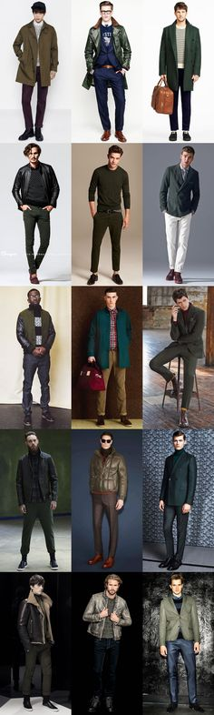 Men's Green Clothing, Outerwear, Tailoring and Accessories - Outfit Inspiration Lookbook