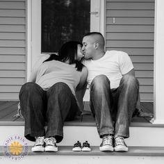 Maternity   New England Portrait Photographer #maternityportraits #blackandwhite #babyshoes #converse #chucktaylors #SadieErinPhotography