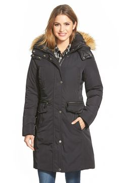 Marc New York  Warby  Faux Fur Trim Long Down  amp  Feather Fill Parka 0451822e5