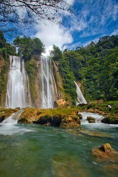 Cikaso Waterfall, Ujung Genteng, Sukabumi, West Java, Indonesia