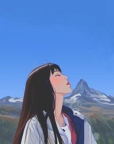 Anime Art Aesthetic – Block to CoronaVirus! Aesthetic Drawing, Aesthetic Art, Aesthetic Anime, Aesthetic Japan, Animes Wallpapers, Cute Wallpapers, Colorful Drawings, Cute Drawings, Japon Illustration