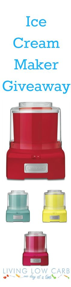 Enter for your chance to win an Ice Cream Maker #lowcarb #paleo #glutenfree