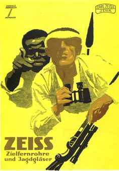 Ludwig Hohlwein poster for Carl Zeiss