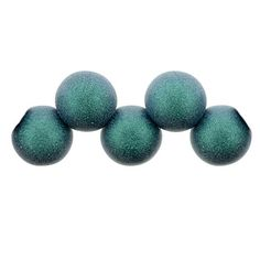 50 6mm Round Czech Pressed Glass Druk Beads Capri Blue Transparent