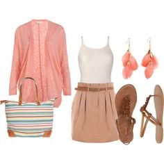 Coral ♥ in love with this outfit.
