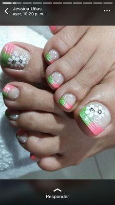 Toe Nail Art, Toe Nails, Blue Acrylic Nails, French Pedicure, Mani Pedi, Triangles, Nail Art Designs, Lily, Fairy