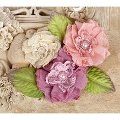 Search: fabric flowers > Dawn Paquita Fabric Flowers & Leaves - Prima: A Cherry On Top