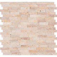MSI Roman Beige Split Face Peel and Stick 12 in. x 12 in. x Travertine Mesh-Mounted Mosaic Tile sq. / - The Home Depot Self Adhesive Backsplash Tiles, Mosaic Wall Tiles, Marble Mosaic, Mosaics, Peel And Stick Tile, Stick On Tiles, Face Peel, Accent Wall Bedroom, Travertine Tile