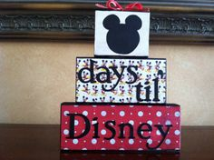 Disney Countdown Wood Block set / Vacation by WoodnExpressions, $18.00