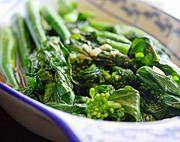 Stir-Fried Chinese Broccoli with Fresh Garlic.