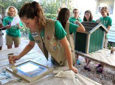 St. Francis Xavier 7th grade Cadette Girl Scout Troop 1231 finished building two Little Free Libraries, which will be placed within Jefferson Parish in front of someone's home.