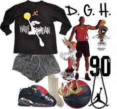 """""""Hare Jordan. Do it like Mike..girl style."""" by dopegenhope ❤ liked on Polyvore"""