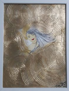 Quadro Menina Moça Metal, Painting, White Frames, Art Production, Made By Hands, Artworks, Ink, Artists, Painting Art