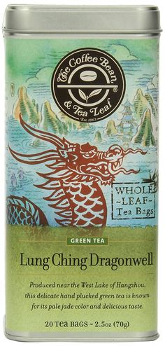 The Coffee Bean and Tea Leaf, Tea, Hand-Picked Lung Ching Dragonwell, 20 Count Tin *** Remarkable product available