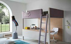 lit mezzanine conforama, lit superposé ikea dans la chambre d'enfant