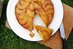 Belleau Kitchen: peach polenta upside-down cake