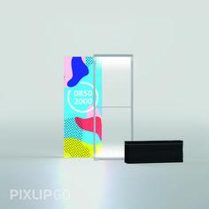 Mobile Leuchtwand 850 x 2000 x 150 mm PIXLIP GO ist das einzige flexible Stecksystem auf dem Markt der mobilen Präsentationslösungen. Das leichte Material aus ABS Kunststoff ist nicht nur sehr einfach in der Handhabung, sondern vor allem auch sehr verletzungsarm.