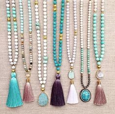 Spectacular Beaded necklaces - Handcrafted