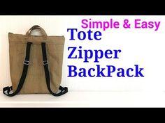 (10) 【DIY】ファスナー*トートリュックの作り方*Lined Tote Zipper BackPack* - YouTube