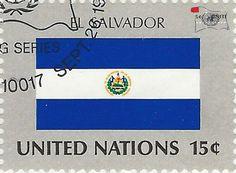 national flag on UN stamp:el salvador