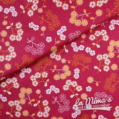 SOLD OUT! - Japanese Flowers Red by Art Gallery Fabrics